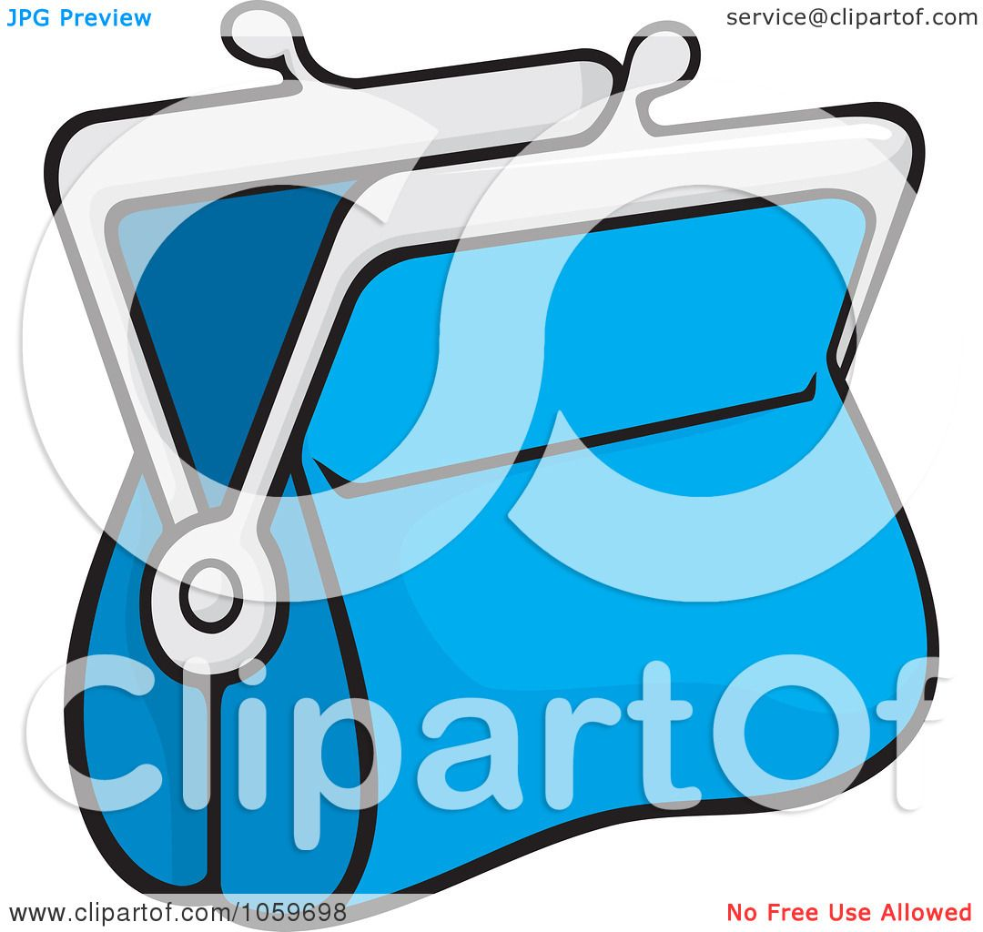 1080x1024 Royalty Free Vector Clip Art Illustration Of A Blue Coin Purse By