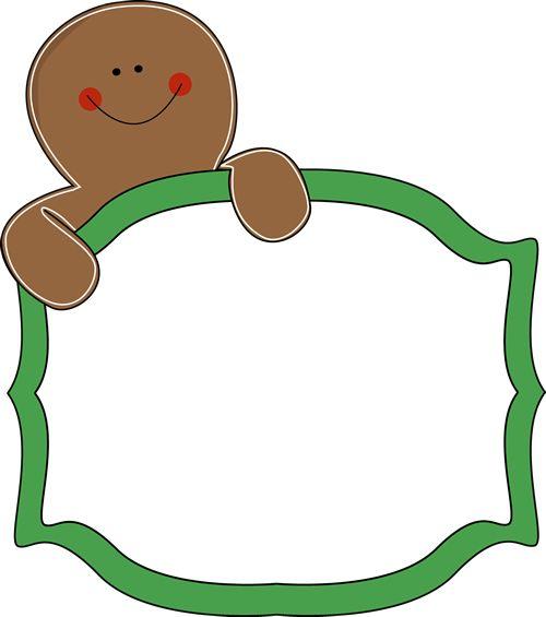500x565 Gingerbread Man Sign Clip Art