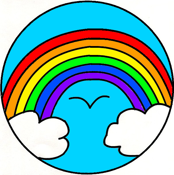 605x608 Rainbow Black And White Rainbow Clipart Black And White Clipart 2