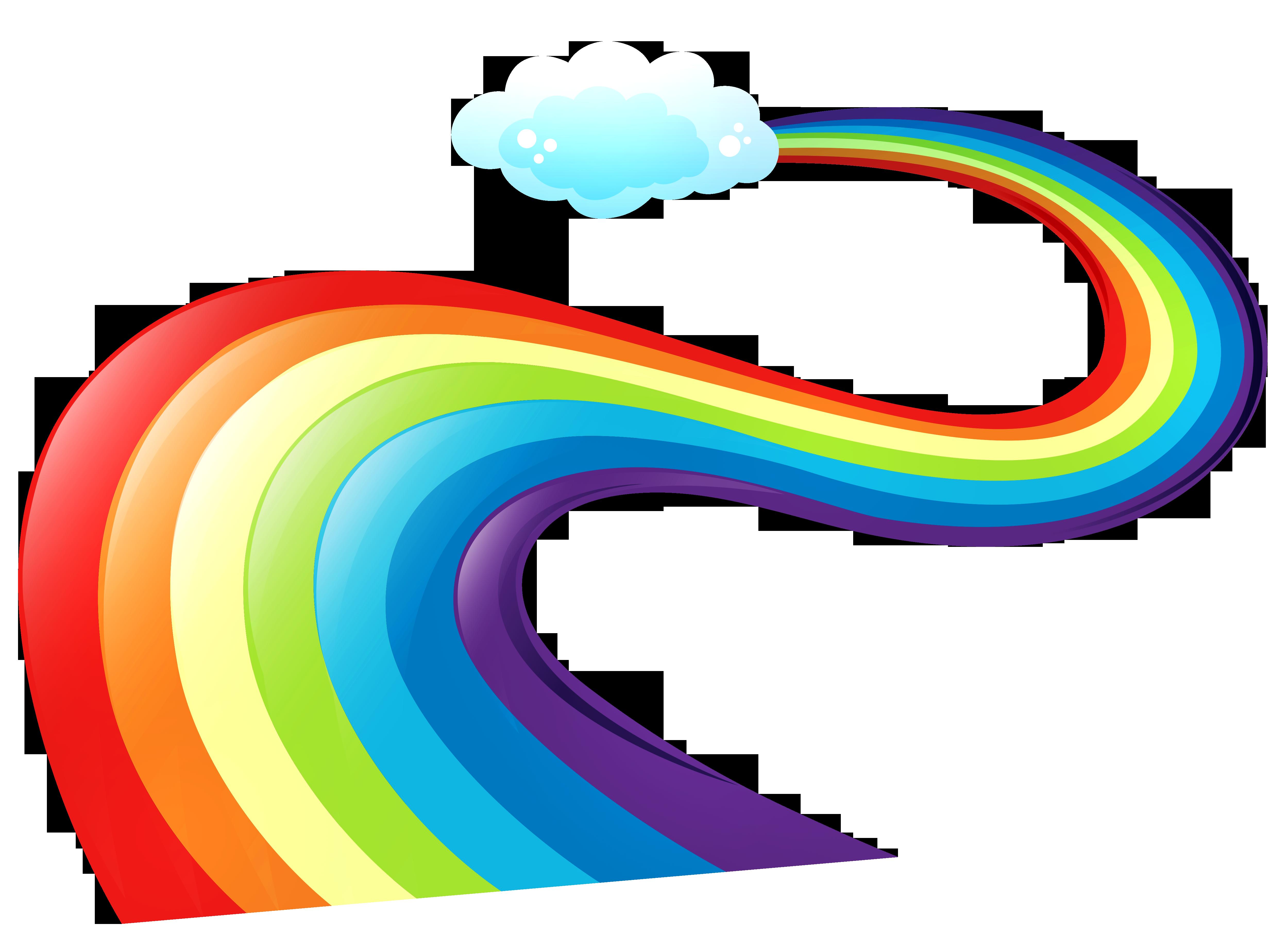 5000x3688 Rainbow Clipart Side