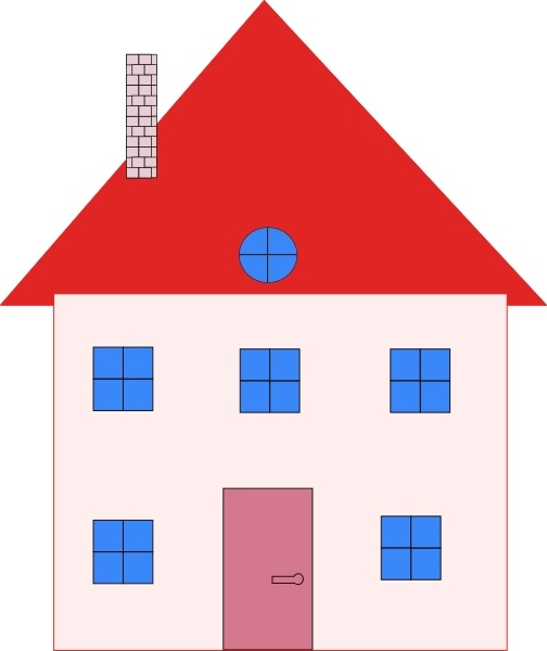 504x600 Colonial House Home Real Estate Clip Art Free Vector In Open