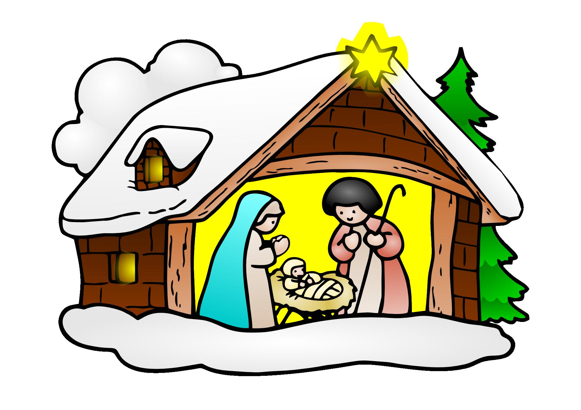 1969x1392 Free Christmas Religious Clip Art