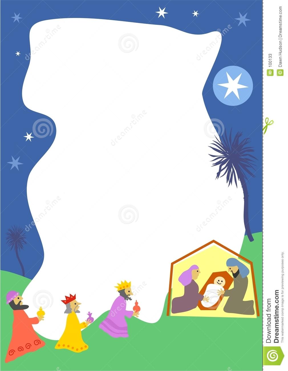 1010x1300 Christmas Nativity Borders Clip Art