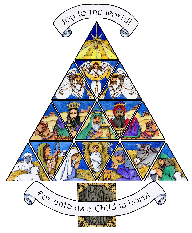 2474x3000 Christian Christmas Tree Clip Art