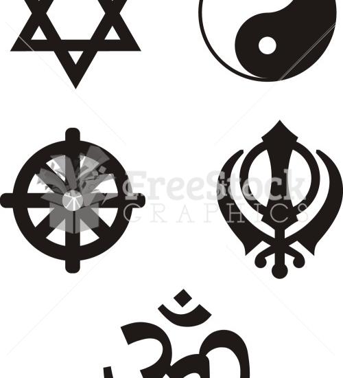 500x550 Religious Symbols Vector Image