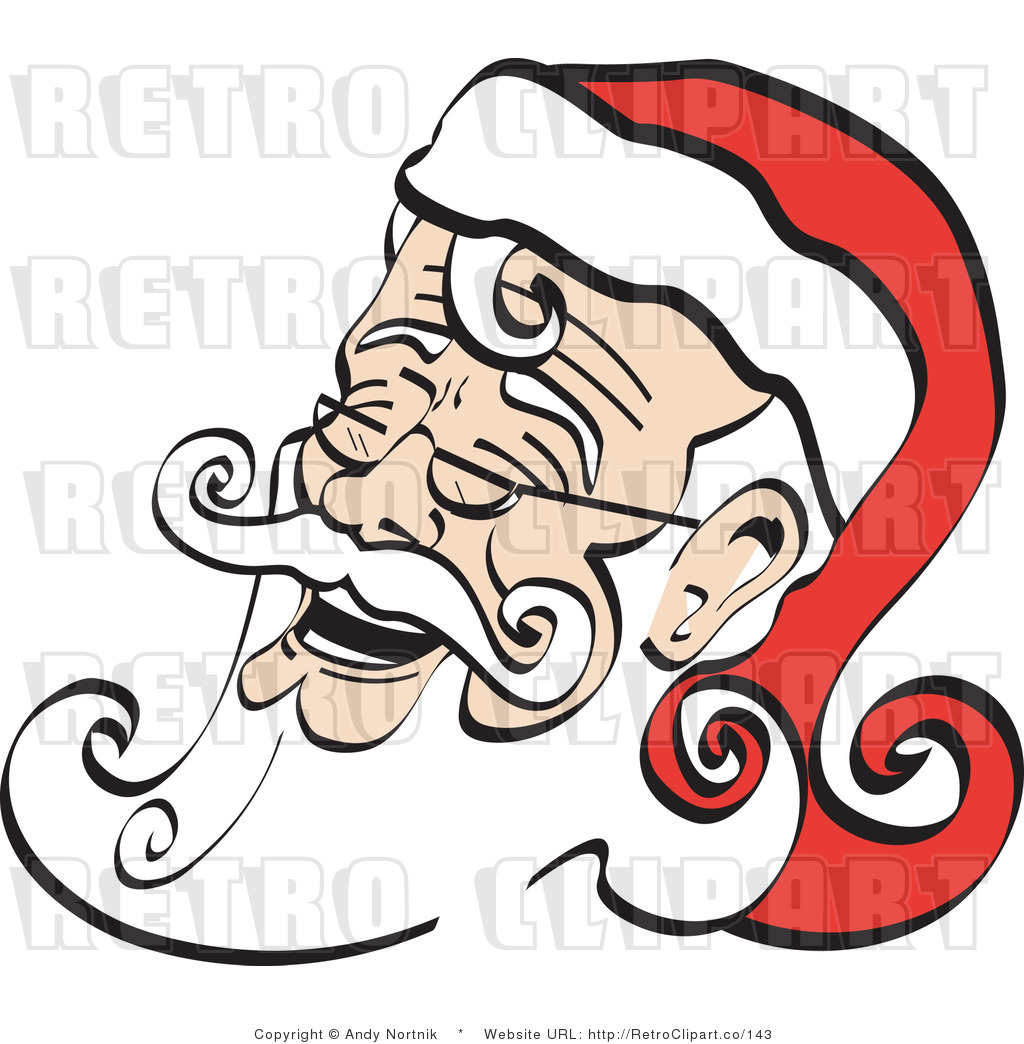 1024x1044 Royalty Free Retro Vector Clip Art Of A Laughing Santa By Andy