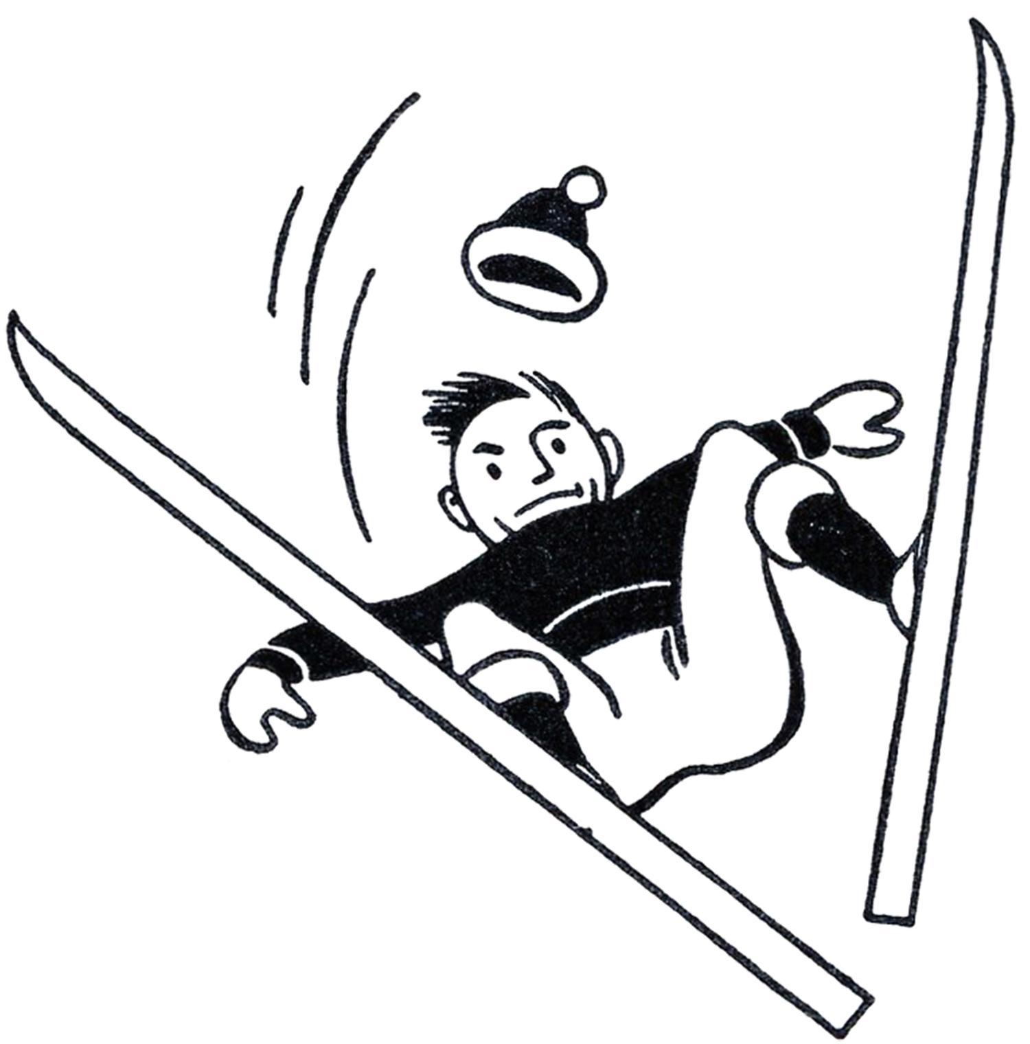 1500x1520 Best Free Ski Clip Art Retro Skiing Clipart Image