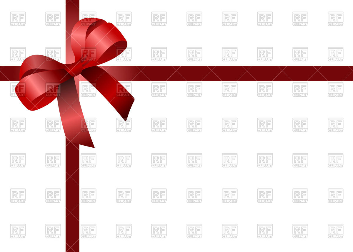 1200x855 Red Ribbon And Bow With Place For Text Royalty Free Vector Clip