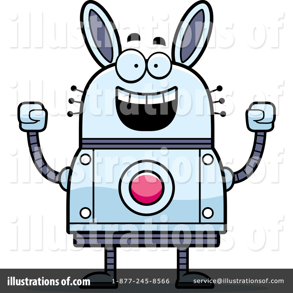 1024x1024 Rabbit Robot Clipart