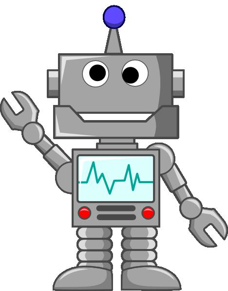 468x596 Robot Waving Clip Art