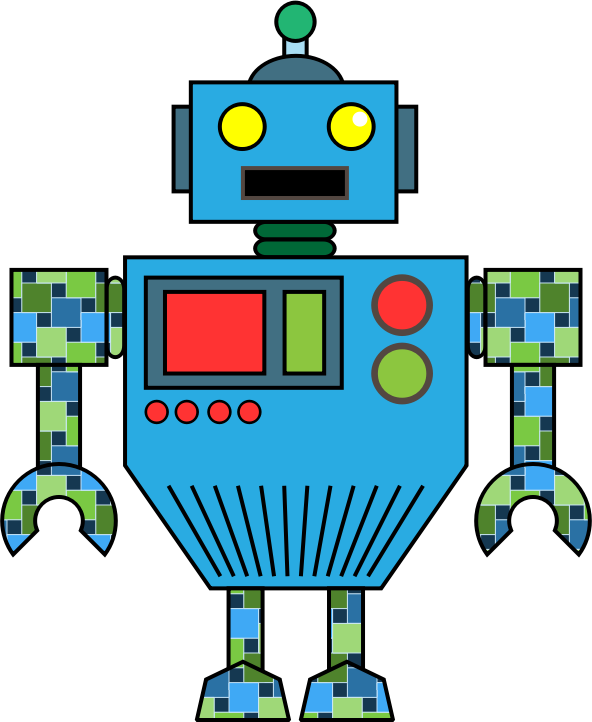 592x722 Robot Clip Art Black And White Free Clipart Images 2