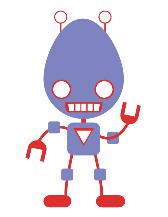 555x718 Free Funky Looking Robot Clip Art