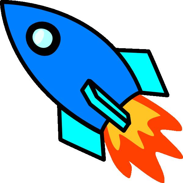 600x600 Blue Rocket Clip Art At Clker Vector Clip Art Online Rocket Ship