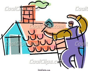 375x302 Clip Art Roof Repair Clipart