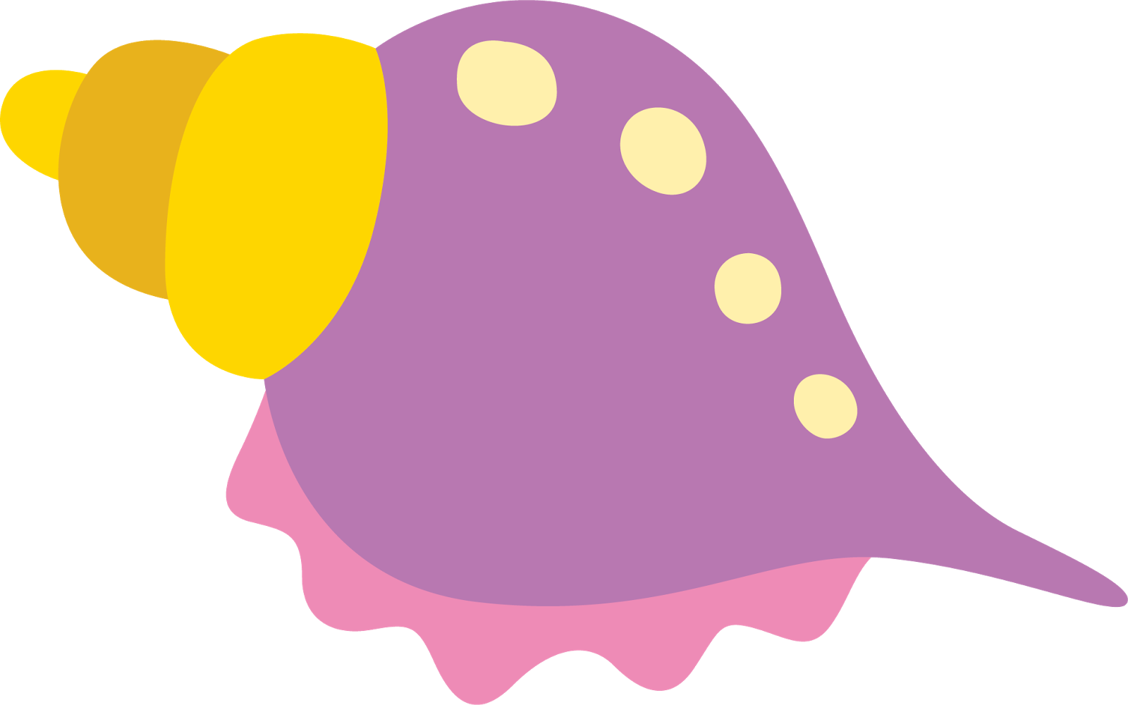 1600x1000 Shell clipart colorful