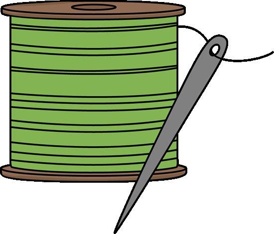550x470 Needle and Thread Clip Art