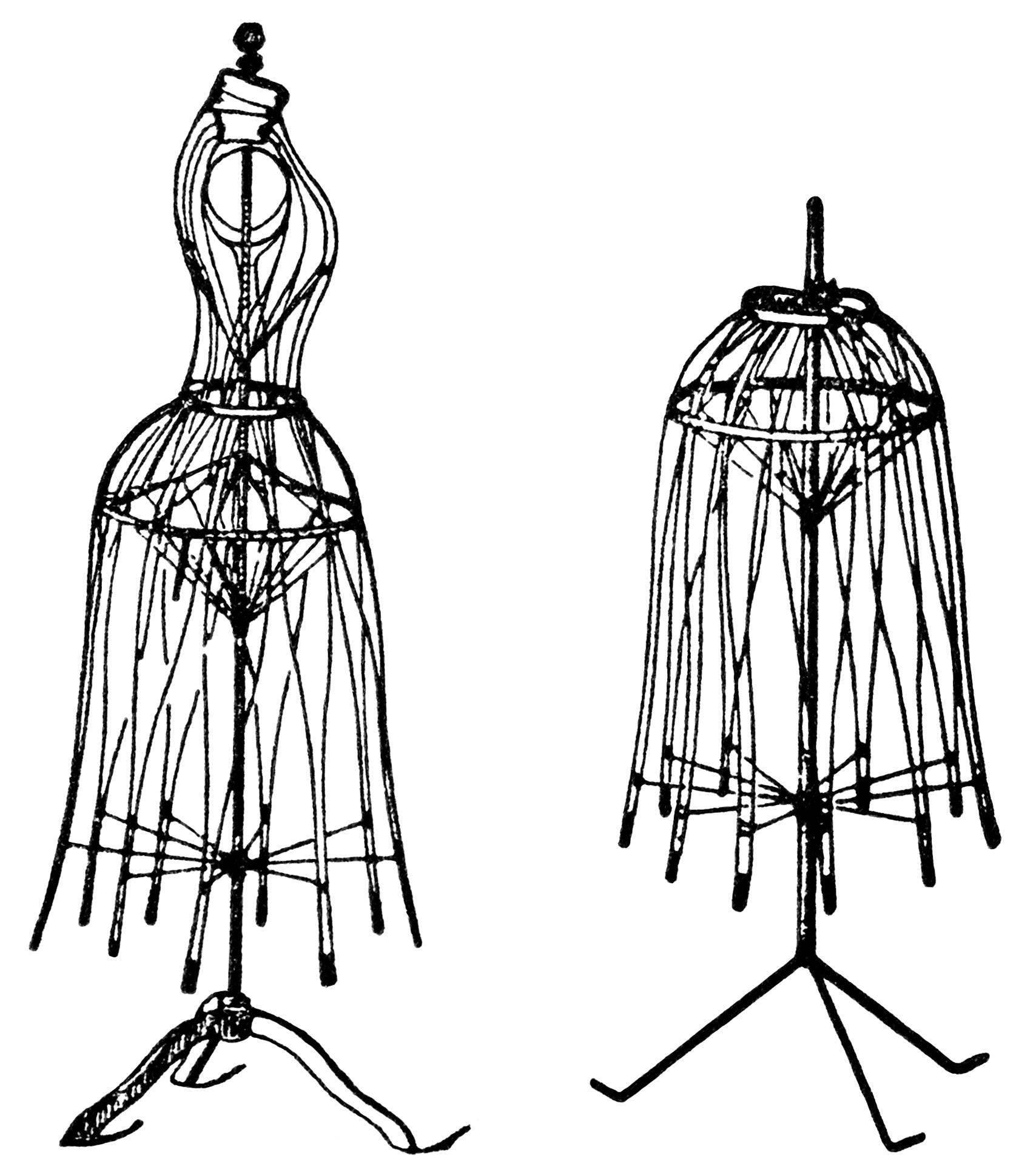 1708x1932 Vintage Dress Form Magazine Ad and Clip Art ~ Free Digital Images