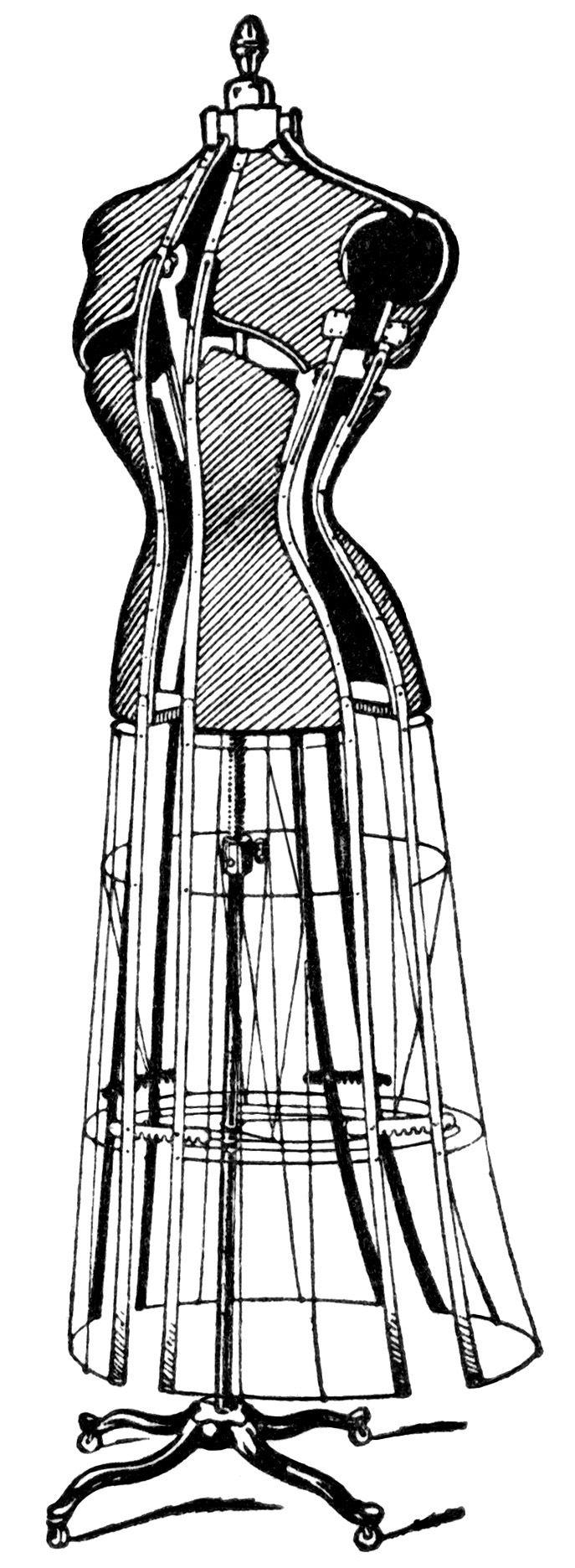 687x1872 Dress Clipart Vintage Dress