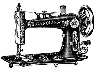 400x308 Old Fashioned Sewing Machine Table New Vintage Clip Art Antique
