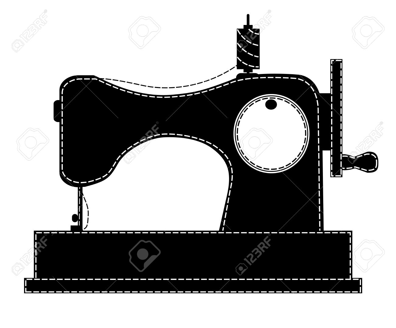1300x1078 5,952 Sewing Machine Stock Vector Illustration And Royalty Free