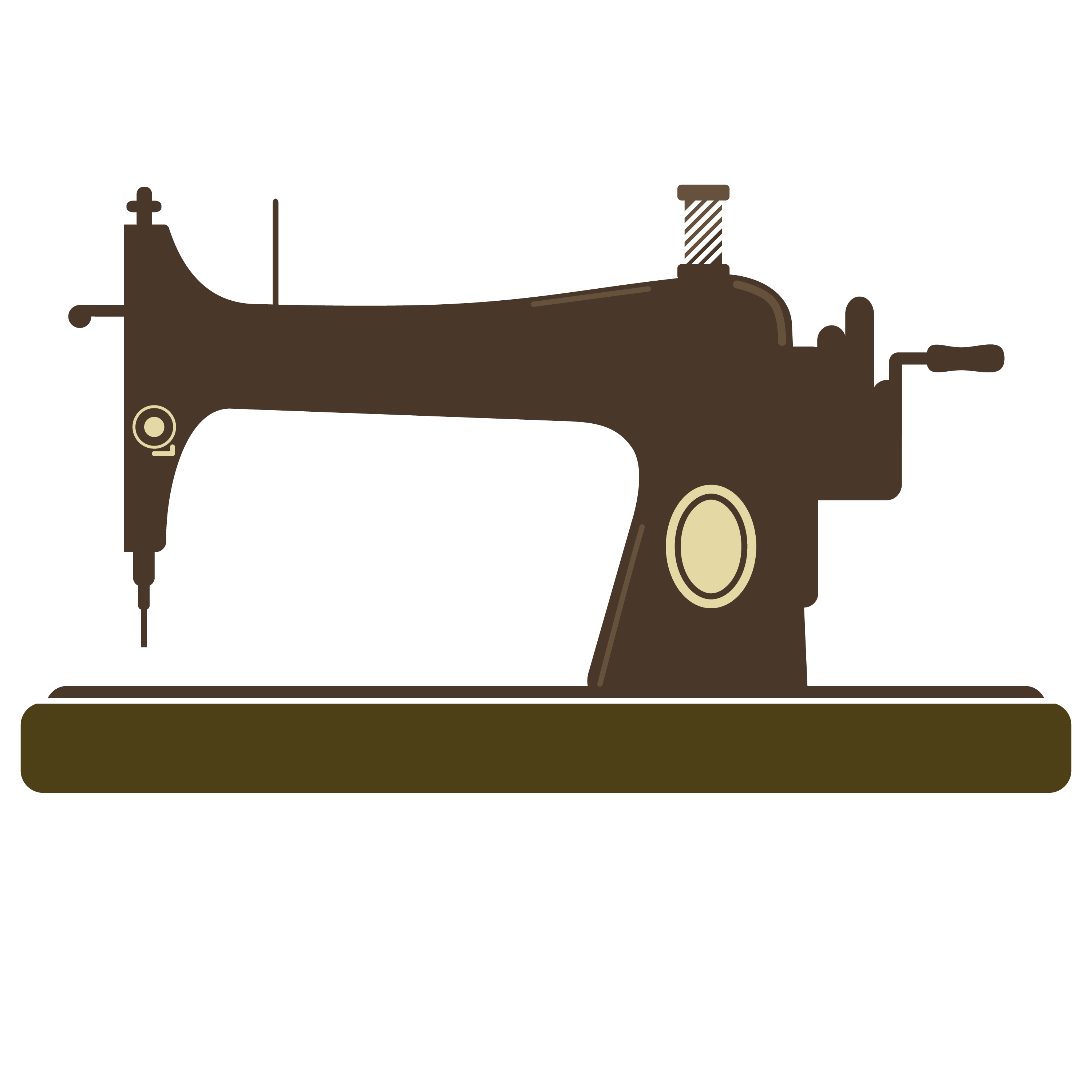 3000x3000 Sewing Machine Clipart Graphic