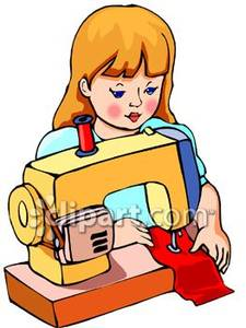 225x300 Sewing Machine Clipart Woman Sewing
