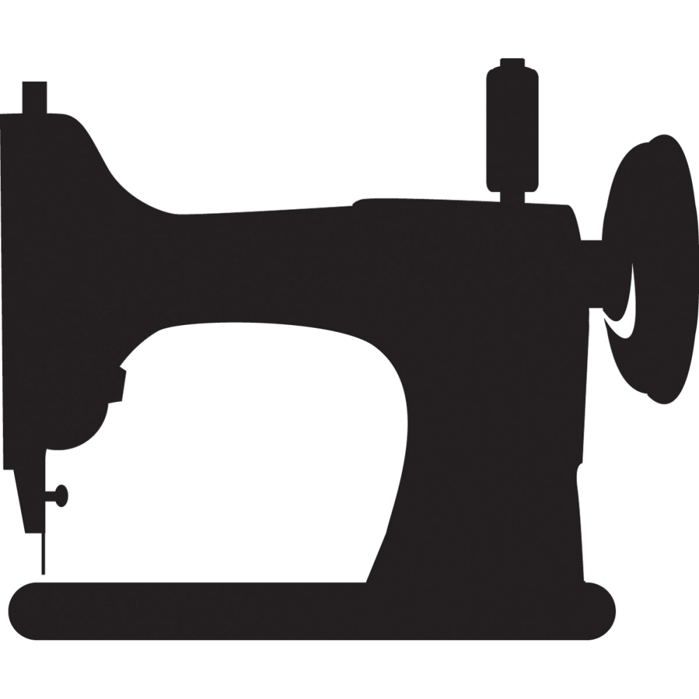 1000x1000 Sewing Machine Silhouette Clip Art Pictures To Pin On 3