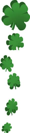 120x520 Irish Clip Art Shamrock Border Graphics (Free St. Patrick's Day