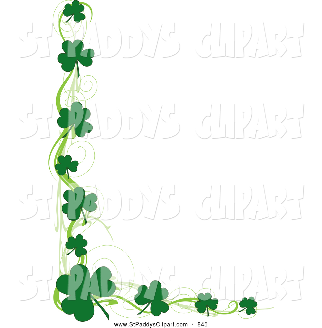 1024x1044 Vector Clip Art Of A Saint Patricks Day Border Of Green Swirls