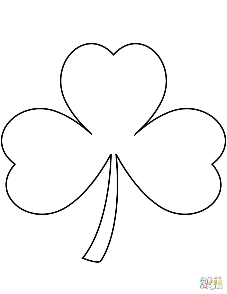 878x1136 Shamrock 137 Outstanding Free Printable Template Large Pattern