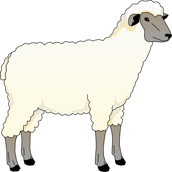 600x599 Sheep Ewe Clip Art Free Vector In Open Office Drawing Svg ( Svg