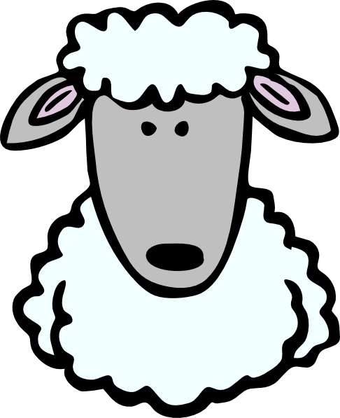 486x597 Sheep Head Clip Art Free Vector 4vector