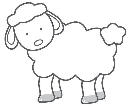 546x459 Sheep Line Drawing