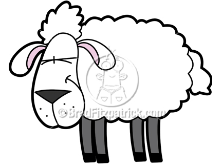 432x324 Cartoon Sheep Clipart Character Royalty Free Sheep Picture