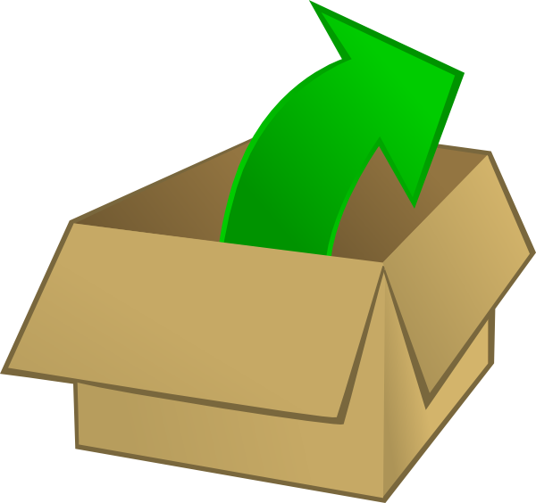 600x564 Out Of The Box Clip Art Free Vector 4vector