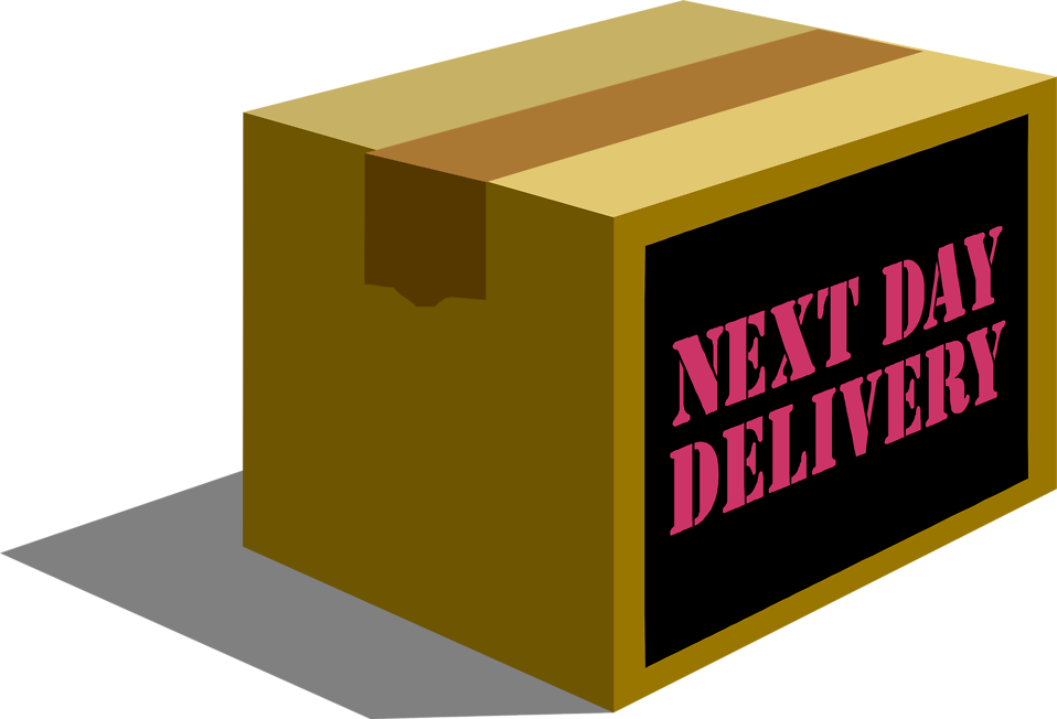 958x652 Package Free Stock Photo Illustration Of A Next Day Delivery