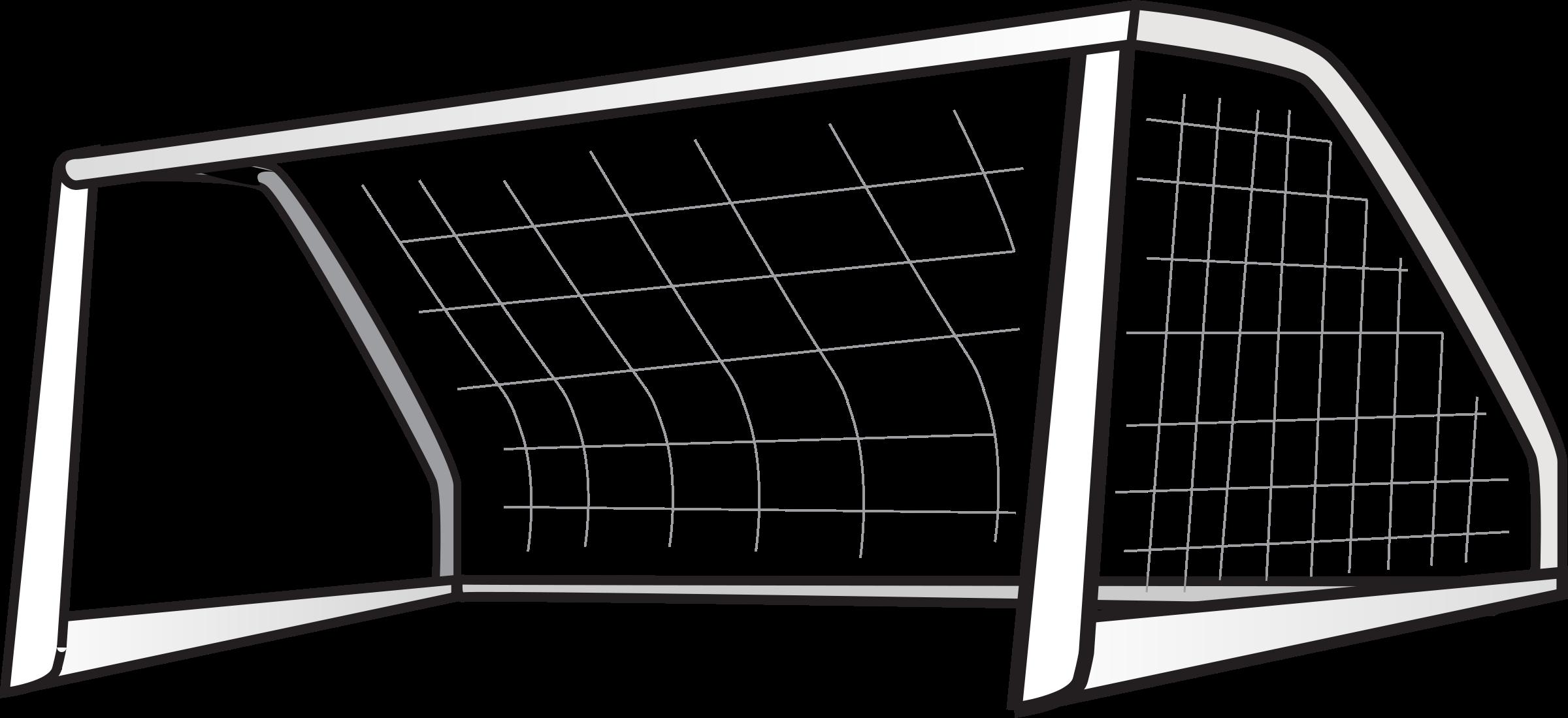 2400x1100 Soccer Goal Clipart