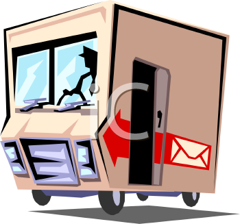 350x327 Truck Clipart Mail Delivery