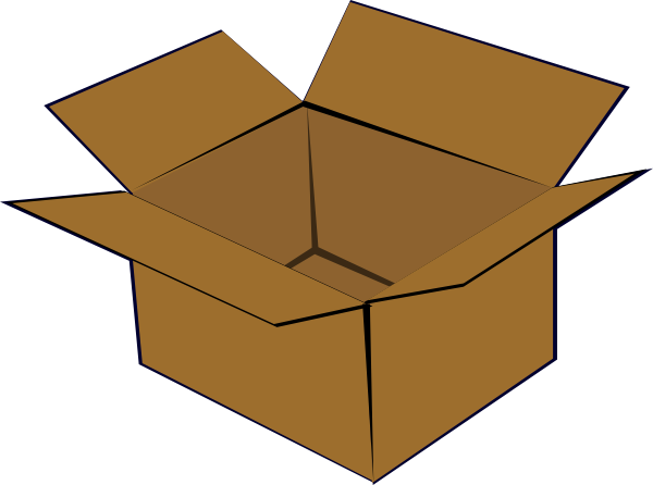 600x446 Cardboard Box Clip Art Free Vector 4vector