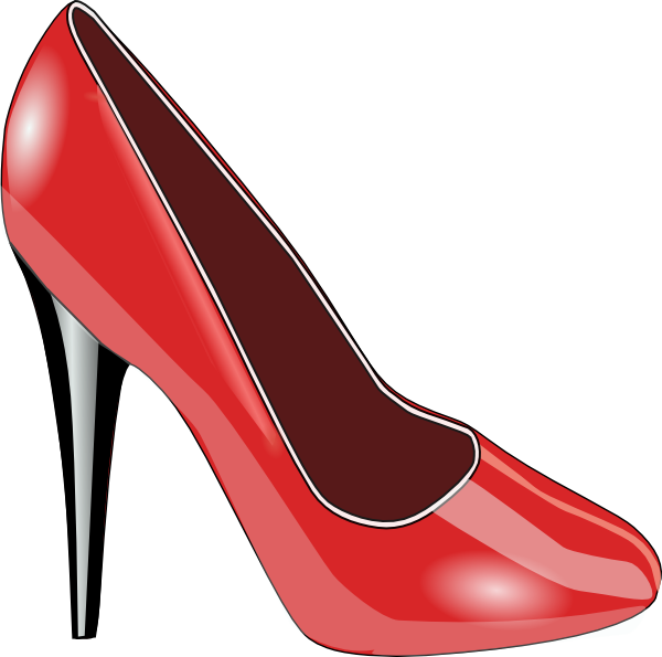 600x595 Red Shoe Clip Art