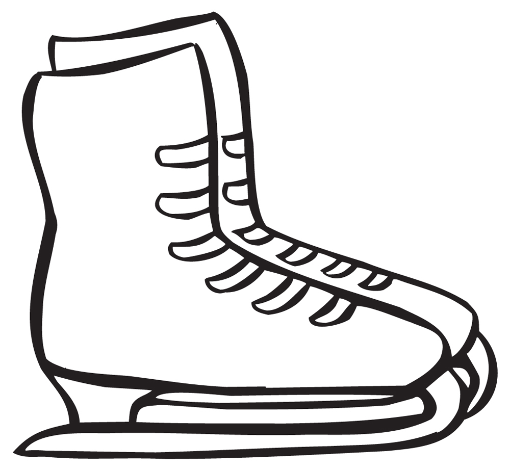 1000x924 Shoe Clipart Ice Skating