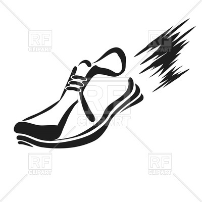 400x400 Silhouette Of Running Shoe Royalty Free Vector Clip Art Image