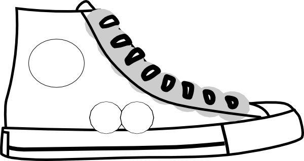 600x319 Tennis Shoes Clipart Black And White Free 2 4