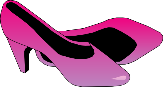 555x298 Free Pink Ladies Shoes Clip Art