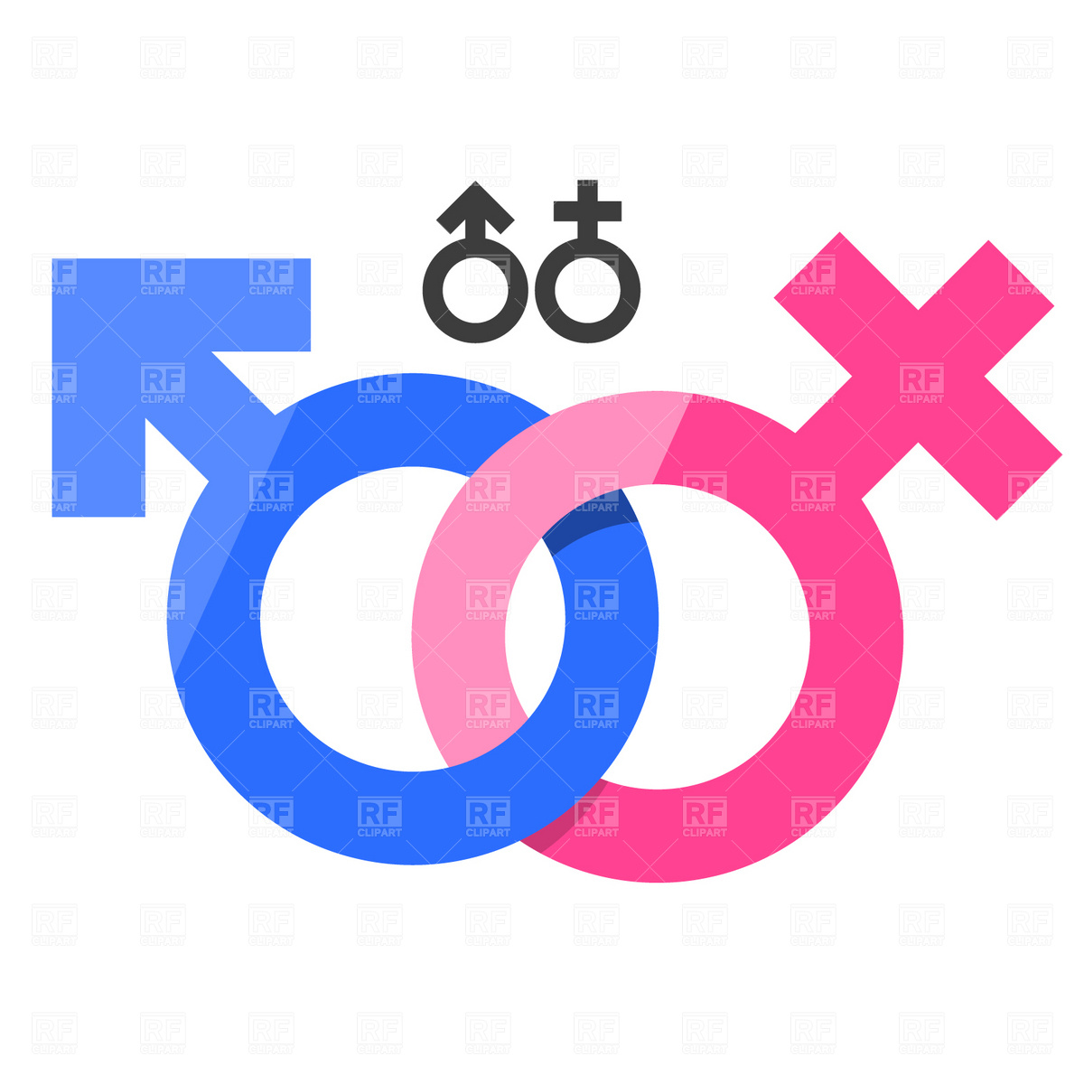 1200x1200 Male And Female Gender Signs Royalty Free Vector Clip Art Image