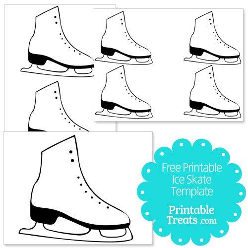 500x500 Free Printable Ice Skate Template