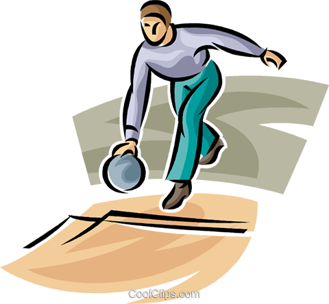 480x444 Person Bowling Royalty Free Vector Clip Art Illustration Vc063712