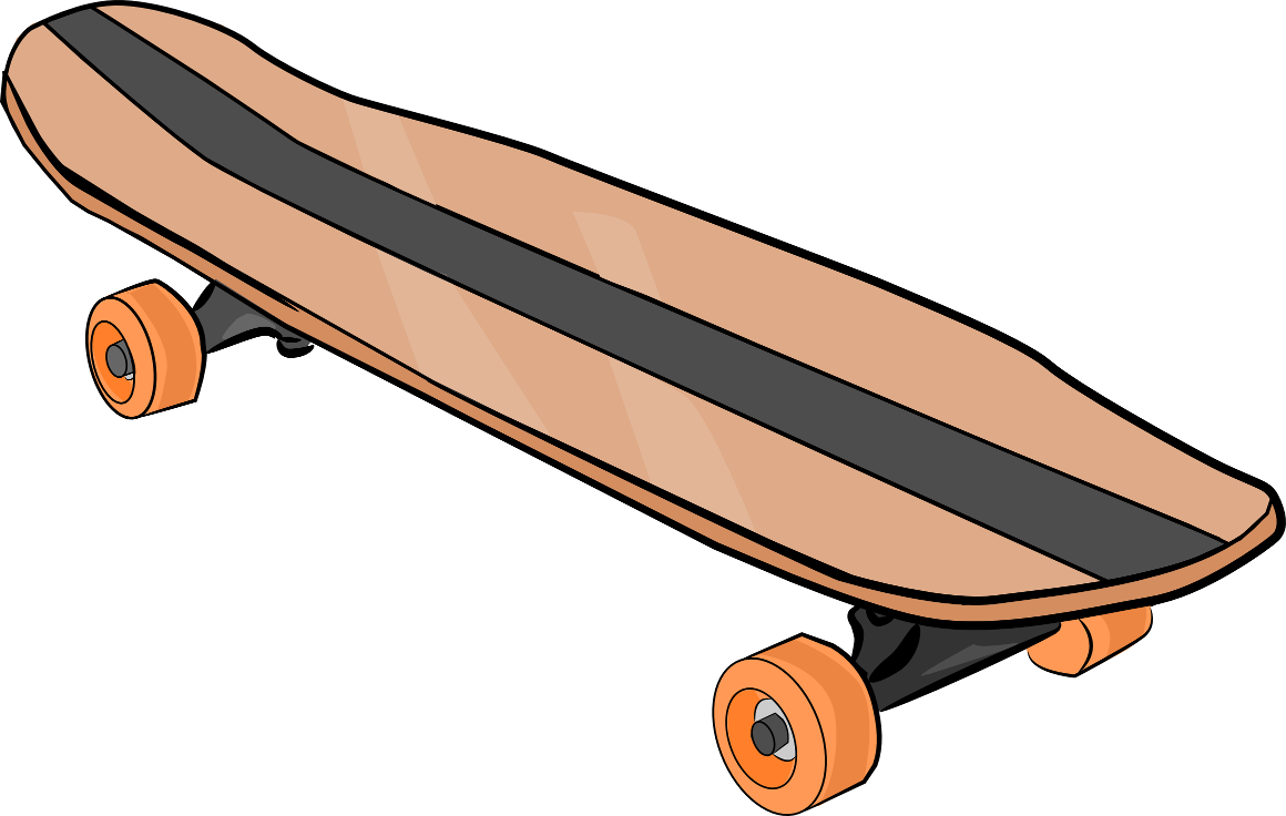 1160x736 Skateboard Clipart Black And White Free Clipart 3