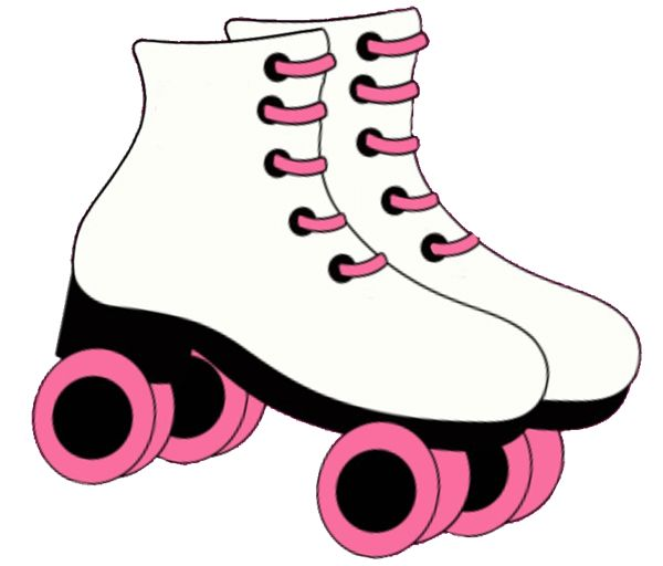 600x512 Skateboard Clipart Pink