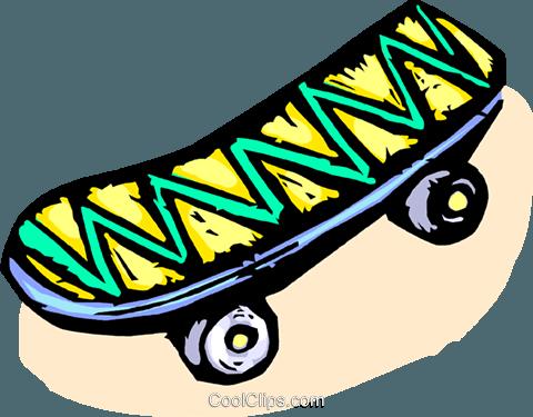 480x375 Skateboard Royalty Free Vector Clip Art Illustration Vc065542
